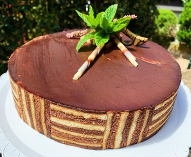Tarta de chocolate y nuez