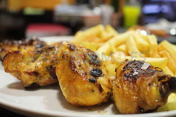 Pollo a la brasa | Restaurante tapería Taberna de Santos en A Coruña